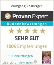 Erfahrungen & Bewertungen zu Wolfgang Kasberger