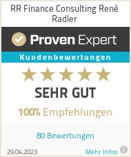 Erfahrungen & Bewertungen zu RR Finance Consulting René Radler