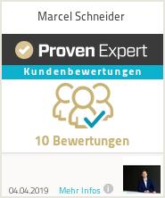Erfahrungen & Bewertungen zu Marcel Schneider