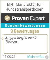 Erfahrungen & Bewertungen zu MHT Manufaktur für Hundetransportboxen