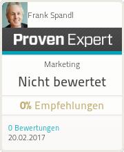 ProvenExpert-Profil von Frank Spandl anzeigen