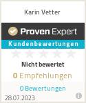 Erfahrungen & Bewertungen zu Karin Vetter