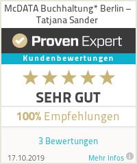 Erfahrungen & Bewertungen zu McDATA Buchhaltung* Berlin – Tatjana Sander