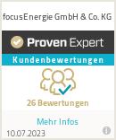 Erfahrungen & Bewertungen zu focusEnergie Gmbh & Co. KG