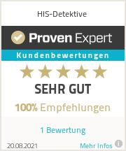 Erfahrungen & Bewertungen zu HIS-Detektive