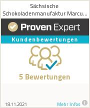 Erfahrungen & Bewertungen zu Sächsische Schokoladenmanufaktur Marcus Schürer