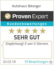 Erfahrungen & Bewertungen zu Autohaus Biberger