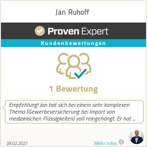 Erfahrungen & Bewertungen zu Jan Ruhoff
