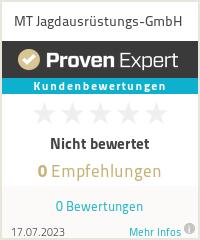 Erfahrungen & Bewertungen zu MT Jagdausrüstungs-GmbH