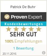 Erfahrungen & Bewertungen zu Patrick De Buhr