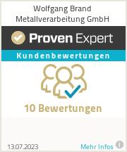 Erfahrungen & Bewertungen zu Wolfgang Brand Metallverarbeitung GmbH