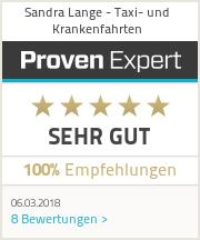Erfahrungen & Bewertungen zu Sandra Lange - Taxi - Krankenfahrten