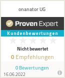 Erfahrungen & Bewertungen zu onanator UG