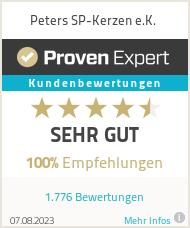Erfahrungen & Bewertungen zu Peters SP-Kerzen e.K.