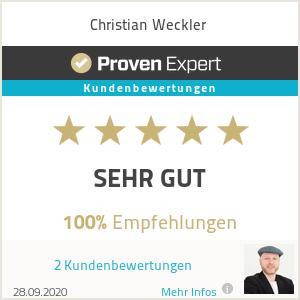 Erfahrungen & Bewertungen zu Christian Weckler