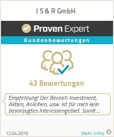 Erfahrungen & Bewertungen zu I S & R GmbH