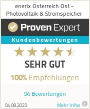 Erfahrungen & Bewertungen zu enerix Eisenstadt - Photovoltaik & Stromspeicher
