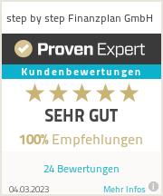 Erfahrungen & Bewertungen zu step by step Finanzplan GmbH