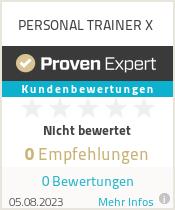 Erfahrungen & Bewertungen zu PERSONAL TRAINER X