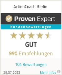 Erfahrungen & Bewertungen zu ActionCoach Berlin