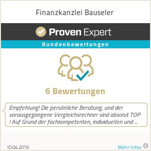 Erfahrungen & Bewertungen zu Finanzkanzlei Bauseler
