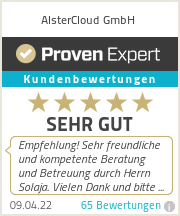Erfahrungen & Bewertungen zu AlsterCloud UG