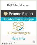 Erfahrungen & Bewertungen zu Ralf Schmidbauer
