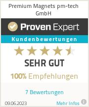 Erfahrungen & Bewertungen zu Premium Magnets pm-tech GmbH