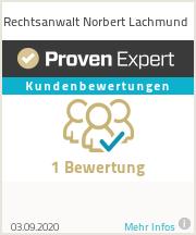Erfahrungen & Bewertungen zu Rechtsanwalt Norbert Lachmund
