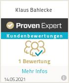 Erfahrungen & Bewertungen zu Klaus Bahlecke