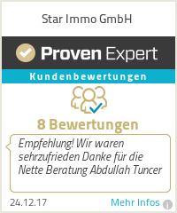 Erfahrungen & Bewertungen zu Star Immo GmbH
