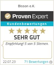 Erfahrungen & Bewertungen zu Bisson e.K.