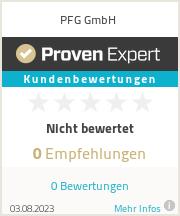 Erfahrungen & Bewertungen zu PFG GmbH