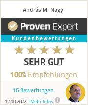 Erfahrungen & Bewertungen zu András M. Nagy