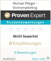 Erfahrungen & Bewertungen zu Michael Pfleger - Onlinemarketing