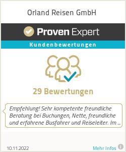 Erfahrungen & Bewertungen zu Orland Reisen GmbH
