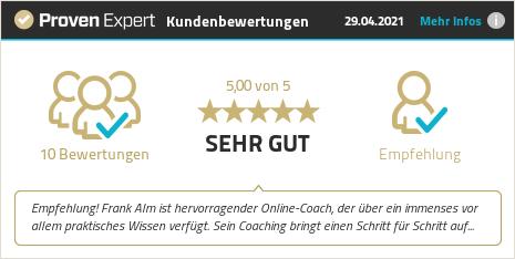 Kundenbewertungen & Erfahrungen zu Frank Alm. Mehr Infos anzeigen.