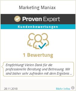 Erfahrungen & Bewertungen zu Marketing Maniax