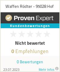 Erfahrungen & Bewertungen zu Waffen Rödter - 95028 Hof