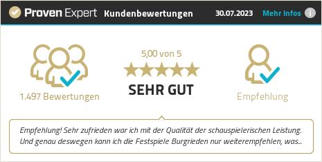 Kundenbewertungen & Erfahrungen zu Festspiele Burgrieden. Mehr Infos anzeigen.