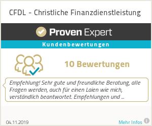 Erfahrungen & Bewertungen zu CFDL - Christliche Finanzdienstleistung