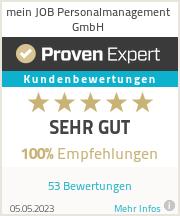 Erfahrungen & Bewertungen zu MEIN JOB Personalmanagement GmbH