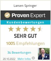 Erfahrungen & Bewertungen zu Larsen Springer