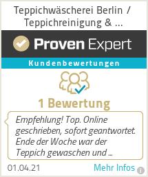 Erfahrungen & Bewertungen zu Teppichwäscherei Berlin / Teppichreinigung & Teppichreparatur