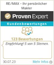Erfahrungen & Bewertungen zu RE/MAX - Ihr persönlicher Makler