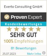 Erfahrungen & Bewertungen zu Everto Consulting
