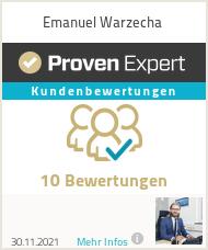 Erfahrungen & Bewertungen zu Emanuel Warzecha