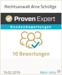 Erfahrungen & Bewertungen zu Rechtsanwalt Arne Schültge
