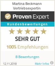 Erfahrungen & Bewertungen zu Martina Beckmann Vertriebsexpertin