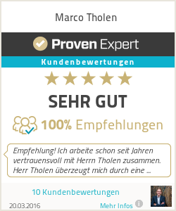 Erfahrungen & Bewertungen zu Marco Tholen